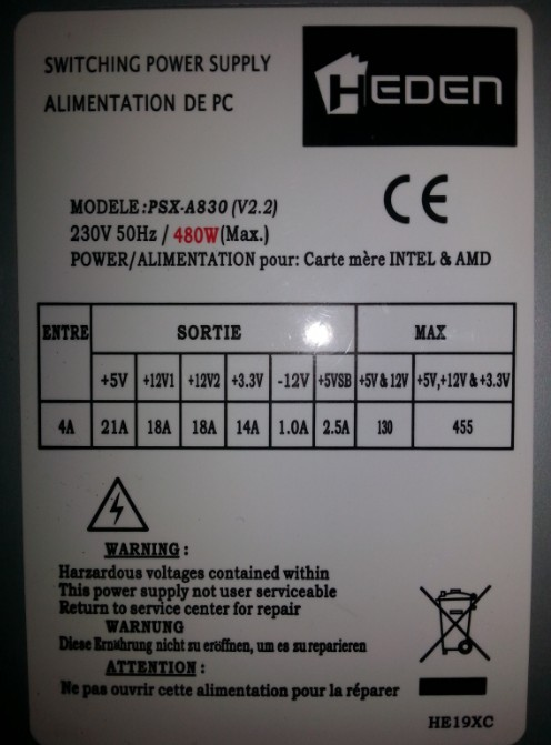 Alimentation Externe Screen47