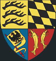 Comté de Montbéliard, Frédéric (1558-1608), 2 Kreuzer 1594 atelier de Riquewihr Ecu_fa10
