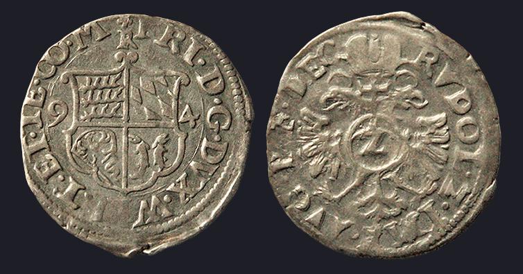 Comté de Montbéliard, Frédéric (1558-1608), 2 Kreuzer 1594 atelier de Riquewihr Mont_r10