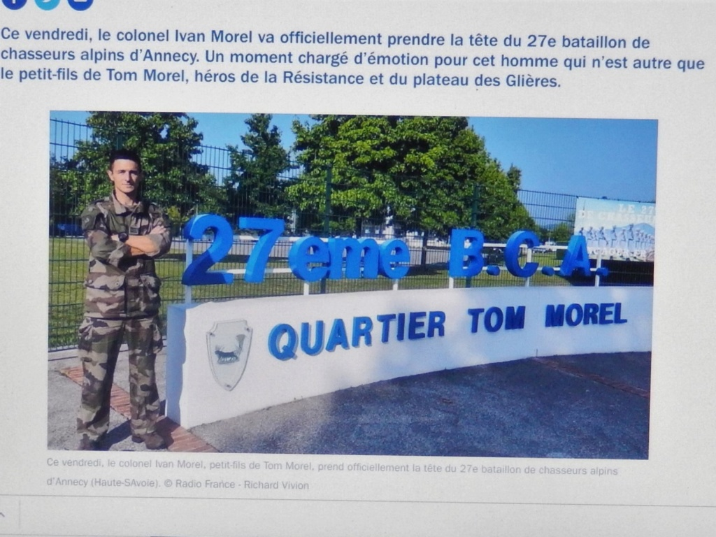 [ Histoire et histoires ] Passation de commandement au 27e bataillon des chasseurs Alpin à Annecy 010