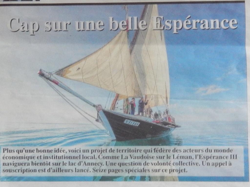 [ Marine à voile ] L'ESPERANCE III  Lac d'Annecy Dscn5613