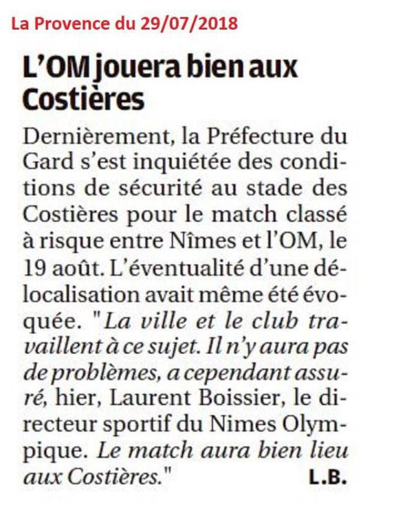 CHAMPIONNAT DE LIGUE 1 CONFORAMA , SAISON 2018-2019, J 2 :  NÎMES OLYMPIQUE - OLYMPIQUE DE MARSEILLE  Img_7315