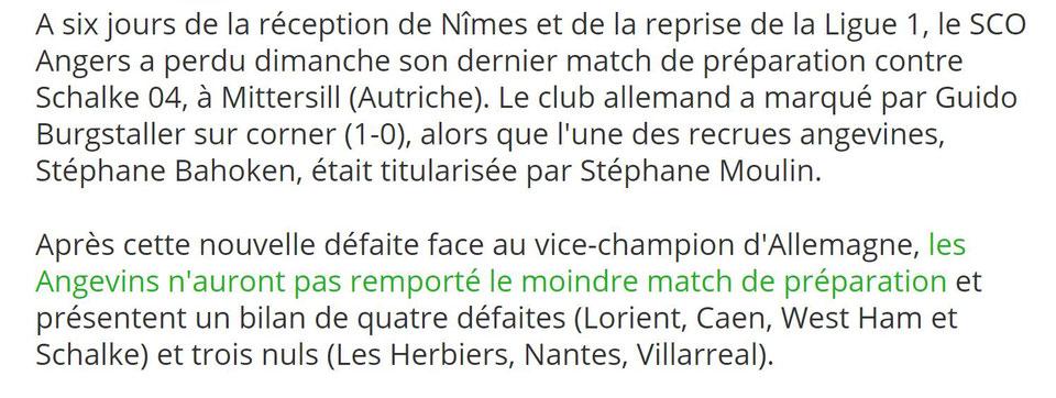 CHAMPIONNAT DE LIGUE 1 CONFORAMA , SAISON 2018-2019, J 1 : SCO ANGERS - NÎMES OLYMPIQUE  Img_7431