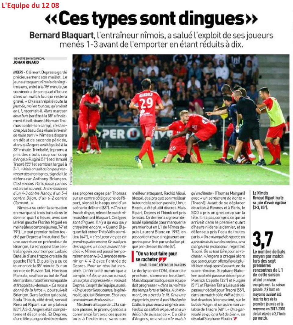 CHAMPIONNAT DE LIGUE 1 CONFORAMA , SAISON 2018-2019, J 1 : SCO ANGERS - NÎMES OLYMPIQUE  - Page 3 Img_7468