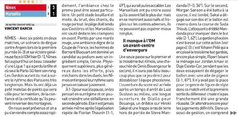 CHAMPIONNAT DE LIGUE 1 CONFORAMA , SAISON 2018-2019, J 2 :  NÎMES OLYMPIQUE - OLYMPIQUE DE MARSEILLE  - Page 5 Img_7577