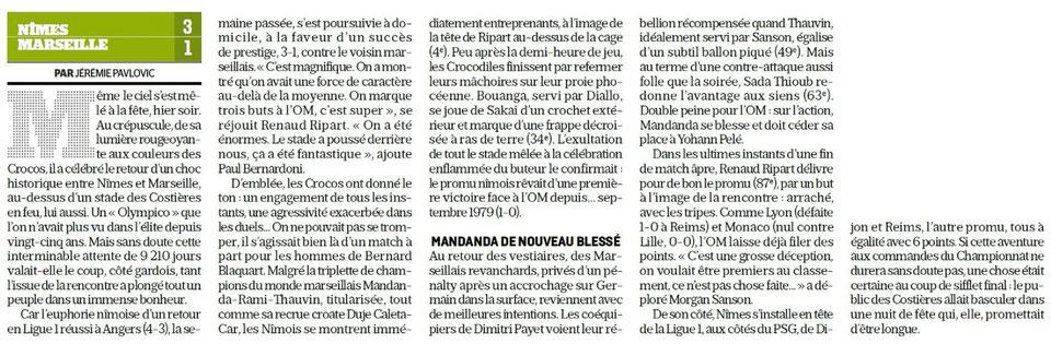 CHAMPIONNAT DE LIGUE 1 CONFORAMA , SAISON 2018-2019, J 2 :  NÎMES OLYMPIQUE - OLYMPIQUE DE MARSEILLE  - Page 5 Img_7614