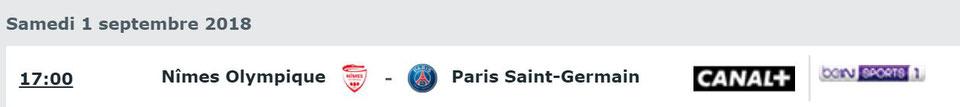CHAMPIONNAT DE LIGUE 1 CONFORAMA , SAISON 2018-2019, J 4 : NÎMES OLYMPIQUE - PARIS SAINT-GERMAIN  Img_7643