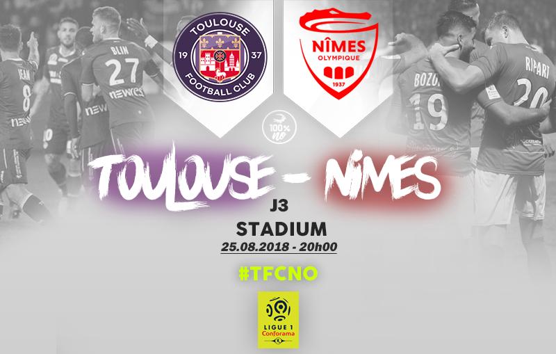 CHAMPIONNAT DE LIGUE 1 CONFORAMA - SAISON 2018-2019 -  J 3 : TOULOUSE FC  - NÎMES OLYMPIQUE  Img_7710