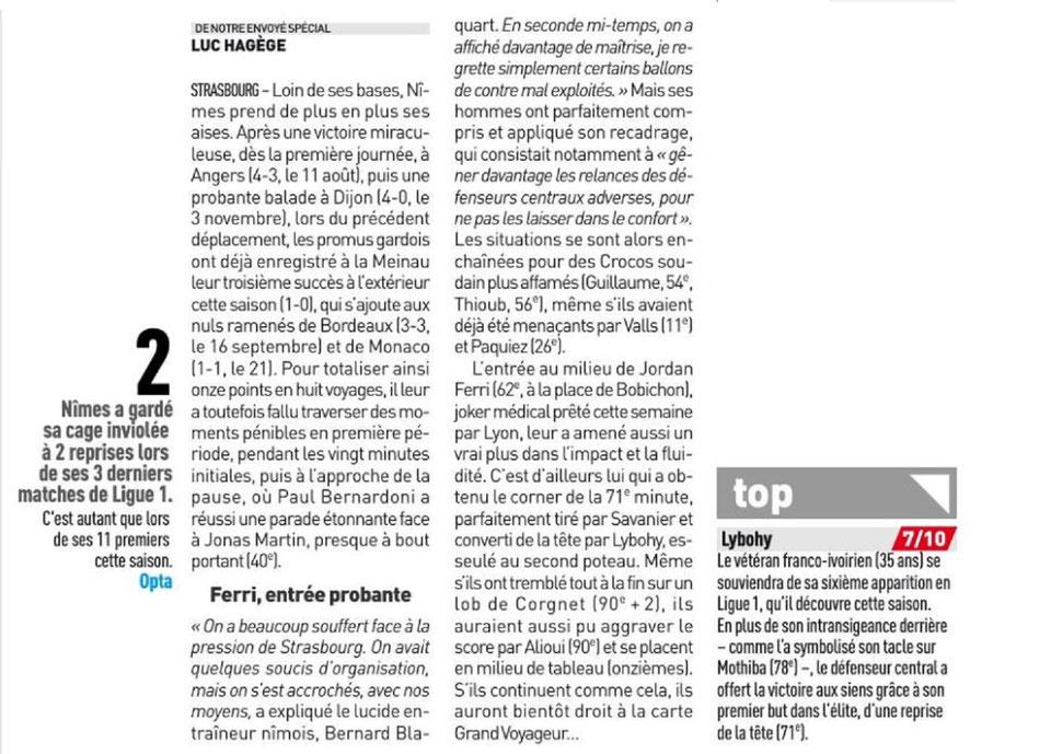 14 EME JOURNÉE DE LIGUE 1 CONFORAMA : RC STRASBOURG ALSACE / NÎMES OLYMPIQUE  - Page 2 Img_8319