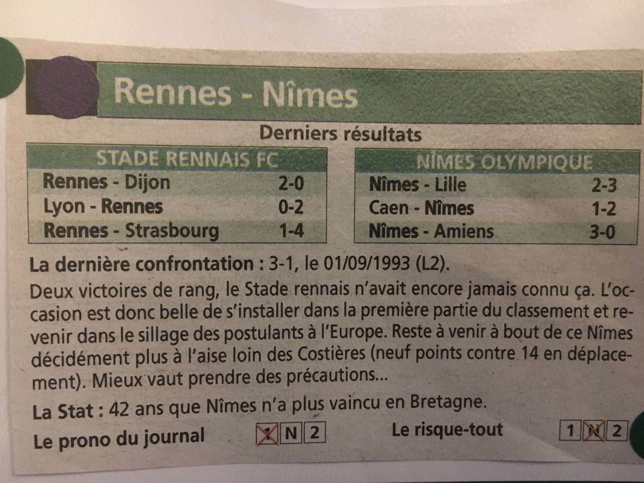 19 EME ET DERNIERE JOURNEE DES MATCHES ALLER DE LIGUE 1 CONFORAMA : STADE RENNAIS / NÎMES OLYMPIQUE Img_8443