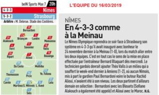 29 EME JOURNEE DE LIGUE 1 CONFORAMA : NÎMES OLYMPIQUE - RACING CLUB DE STRASBOURG ALSACE  Img_9010