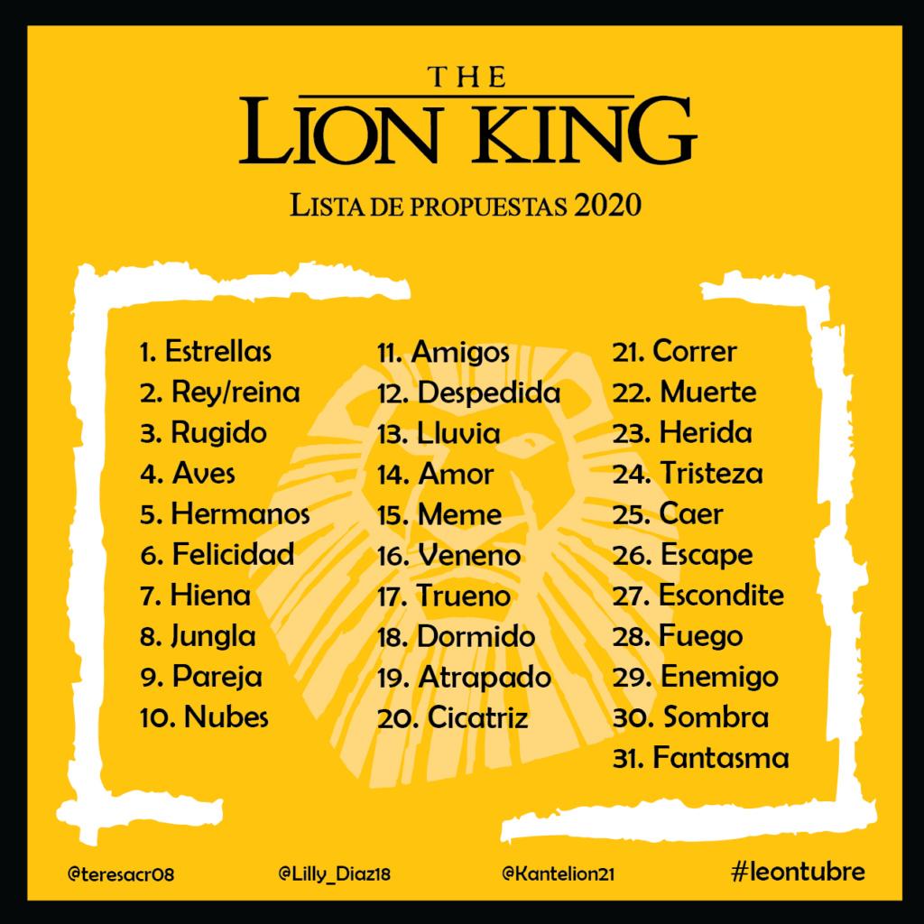 Leontubre... o sea, Inktober pero con leones xd Lista_10