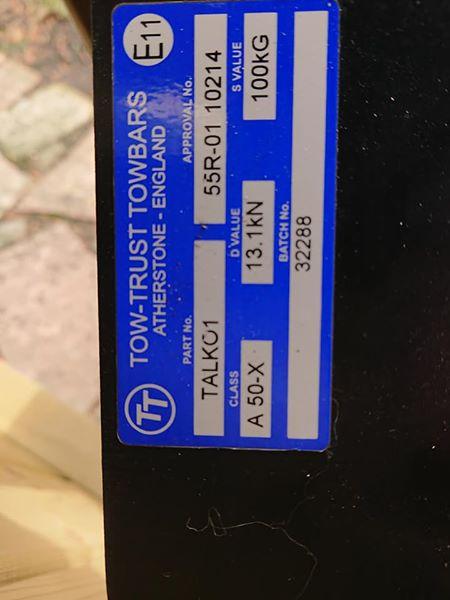TOWBAR FOR SALE....AUTOSLEEPER !! 39913810
