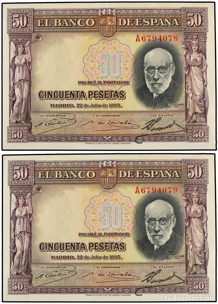 "GRANDES MISTERIOS (V) - 50 pesetas 1935 serie ""A"" (Ramón y Cajal) 16438210"