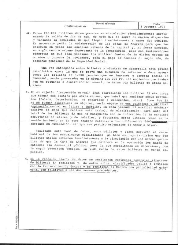 """1000 pesetas 1992 serie 8A, última serie """"experimental"""" en pesetas 2-bd-e10"""