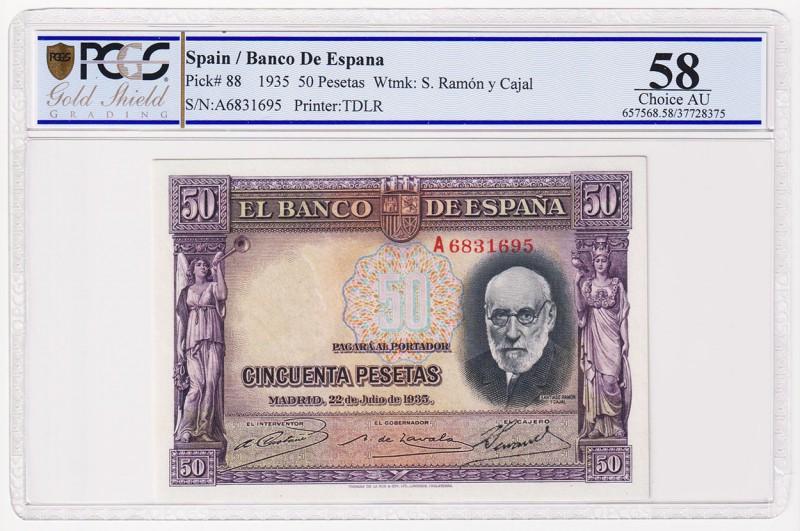 "GRANDES MISTERIOS (V) - 50 pesetas 1935 serie ""A"" (Ramón y Cajal) 58954910"