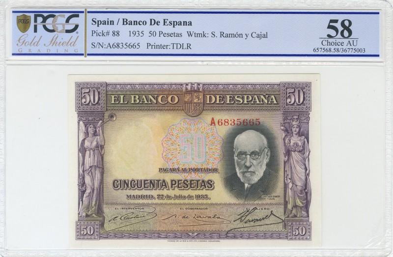 "GRANDES MISTERIOS (V) - 50 pesetas 1935 serie ""A"" (Ramón y Cajal) 61716510"