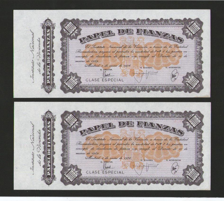 Pagaré/Papel de Finanzas - 1000 pesetas con Matriz Img-2016