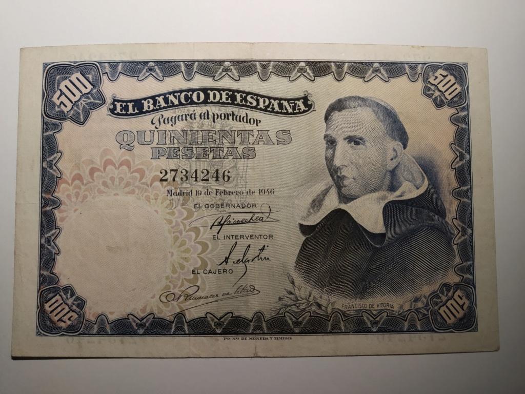 500 pesetas 1946 - Francisco de Vitoria Img_2067