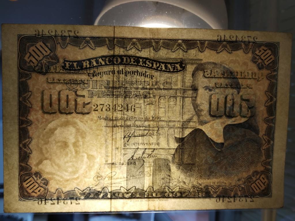 500 pesetas 1946 - Francisco de Vitoria Img_2069