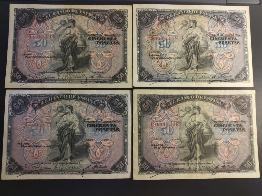 50 Pesetas 1906, serie completa dedicada a Cervantino Img_2071