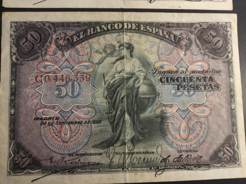 50 Pesetas 1906, serie completa dedicada a Cervantino Img_2075