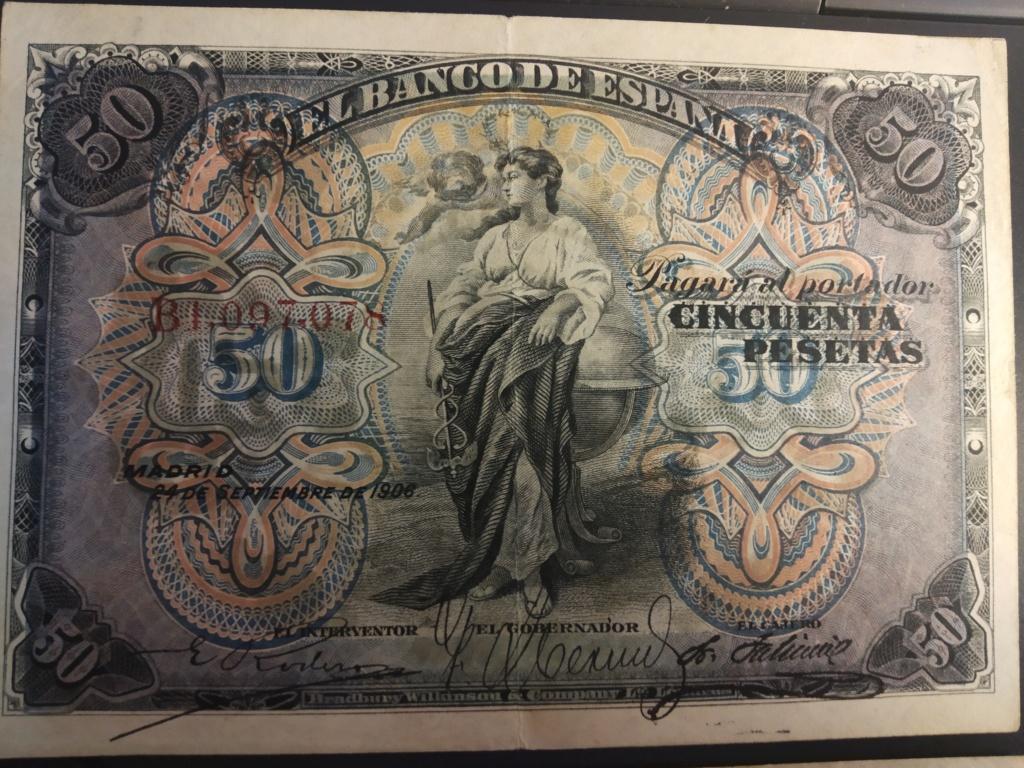50 Pesetas 1906, serie completa dedicada a Cervantino Img_2077