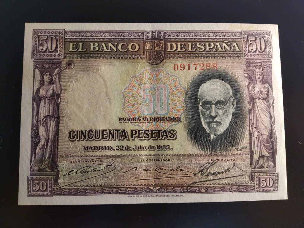 "50 Pesetas 1935 ""Ramón y Cajal"" S/S & A Img_2087"