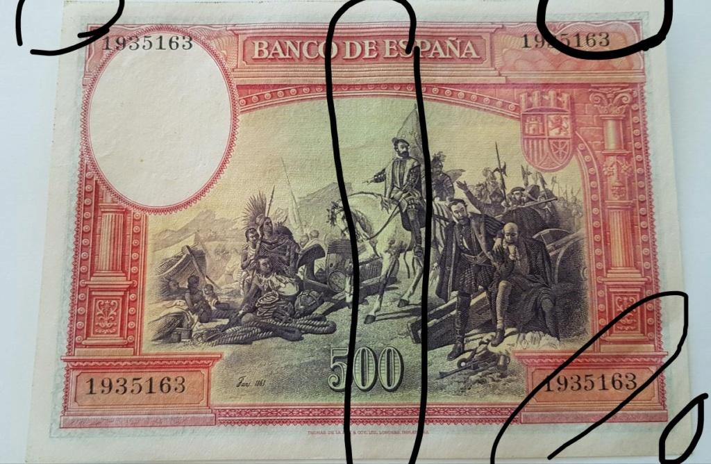 500 pesetas 1935 Hernan Cortes. Img_2109