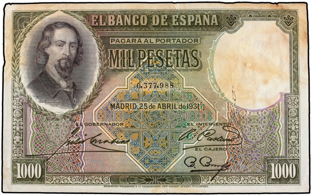 GRANDES MISTERIOS (I) - Tacos existentes 1000 pesetas 1931 Zorrilla - Página 3 Mil-110