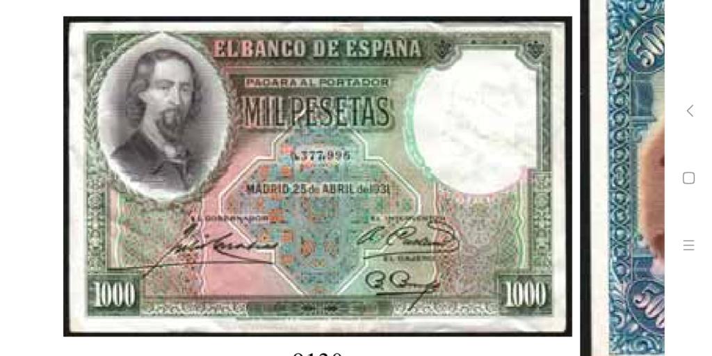 GRANDES MISTERIOS (I) - Tacos existentes 1000 pesetas 1931 Zorrilla Screen23