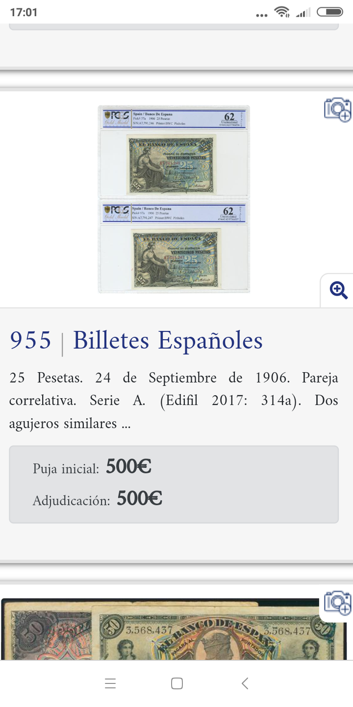 25 pesetas 1906 - Pareja correlativa - de IBERCOIN -> a eBay Screen28