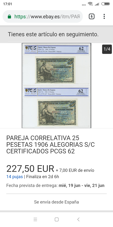 25 pesetas 1906 - Pareja correlativa - de IBERCOIN -> a eBay Screen29