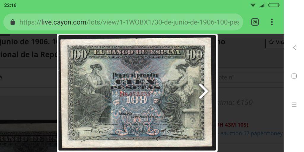 100 pesetas 1906 - SERIE D - Screen31