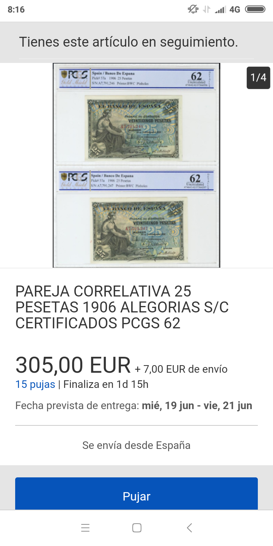 25 pesetas 1906 - Pareja correlativa - de IBERCOIN -> a eBay Screen31