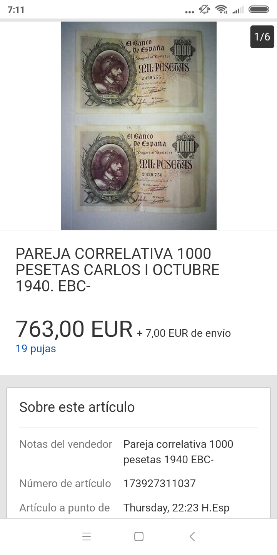 25 pesetas 1906 - Pareja correlativa - de IBERCOIN -> a eBay Screen33