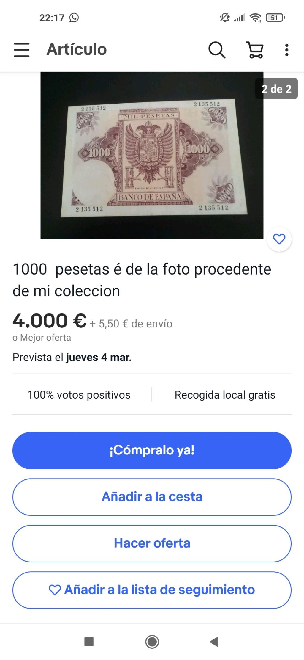 Exagerado... ¿o no? 1000 pesetas 1940 Screen50