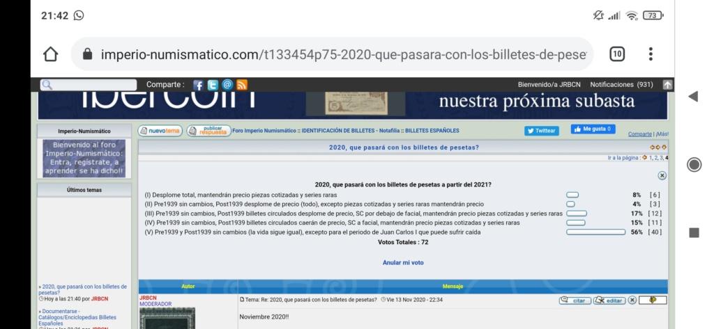 2020, que pasará con los billetes de pesetas? - Página 5 Screen72
