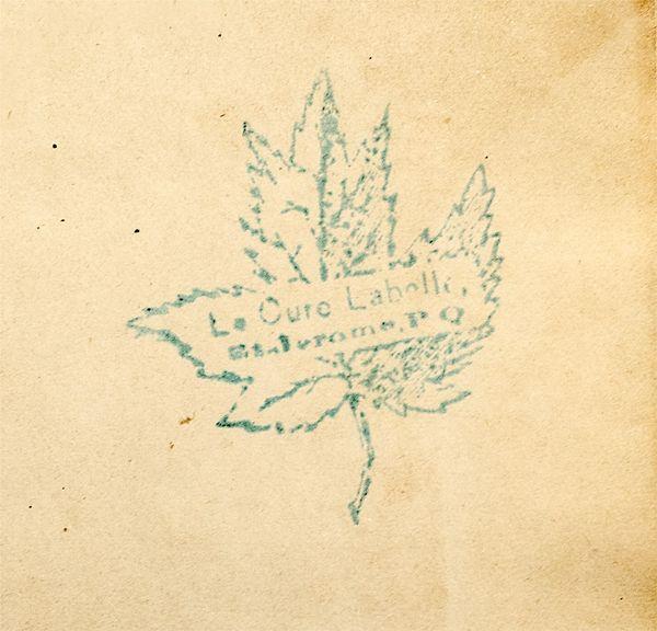 Le sceau de signature du célèbre curé Labelle 12950210
