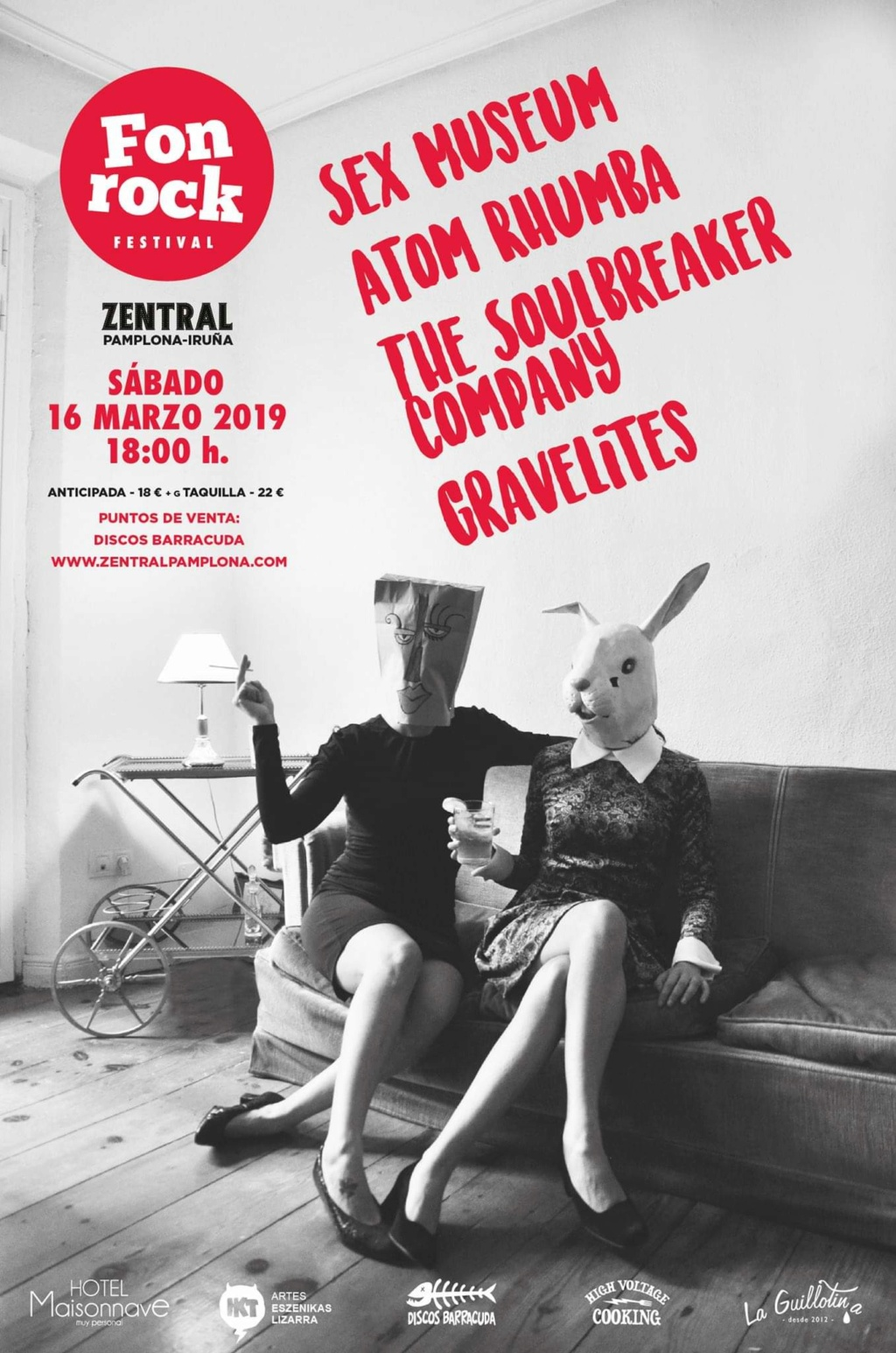 Fonrock 2019: Sex Museum, Atom Rhumba, The Soulbreaker Company & Gravelites. 16 de marzo en Zentral 50280410