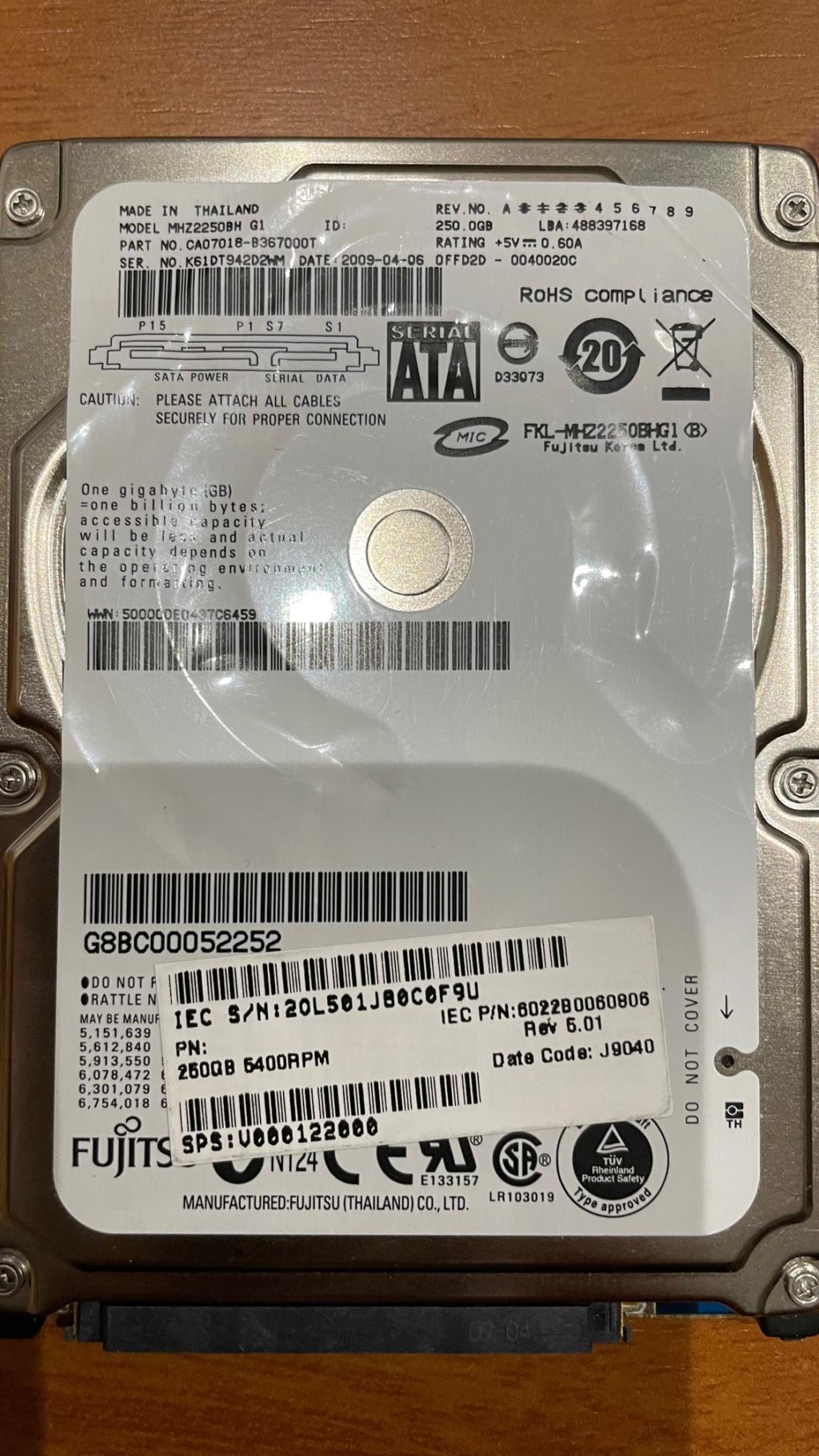 Vendo HDD (mecánico) SATA 250GB Fujitsu Img_7811