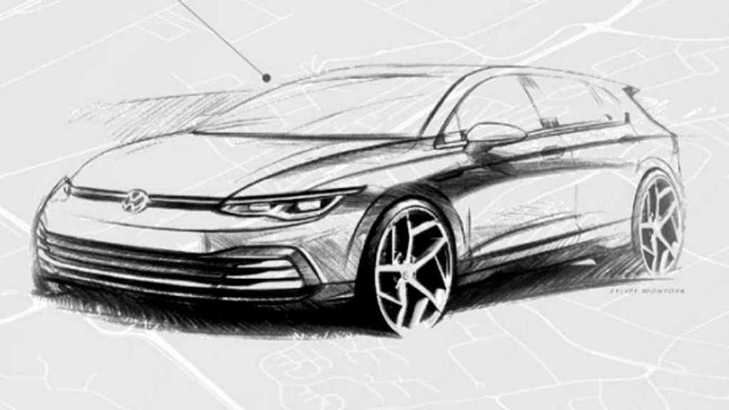 Nova geração do Volkswagen Golf terá sistema híbrido de 48 volts 2020-v10