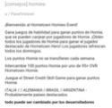 "Información de Evento ""Homie"" 20180133"
