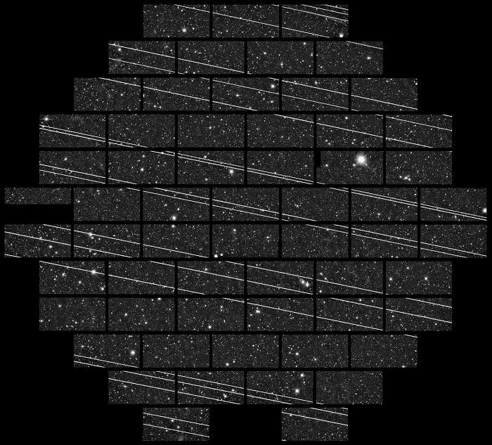 Les satellites starlink polluent le radar GRAVE Starli10