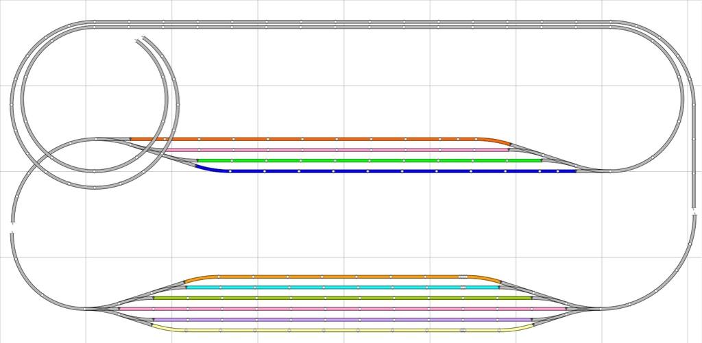 Boucle de retournement (longue) et cantons Phase110