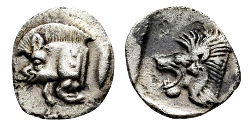 Óbolo de Kyzikos (480-450 a. C.) Misia_10