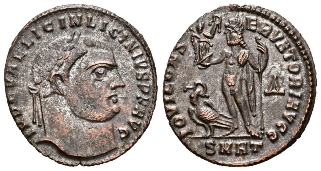 Nummus de Licinio I. IOVI CONSERVATORI AVGG. Júpiter estante a izq. Heraclea. R-800911