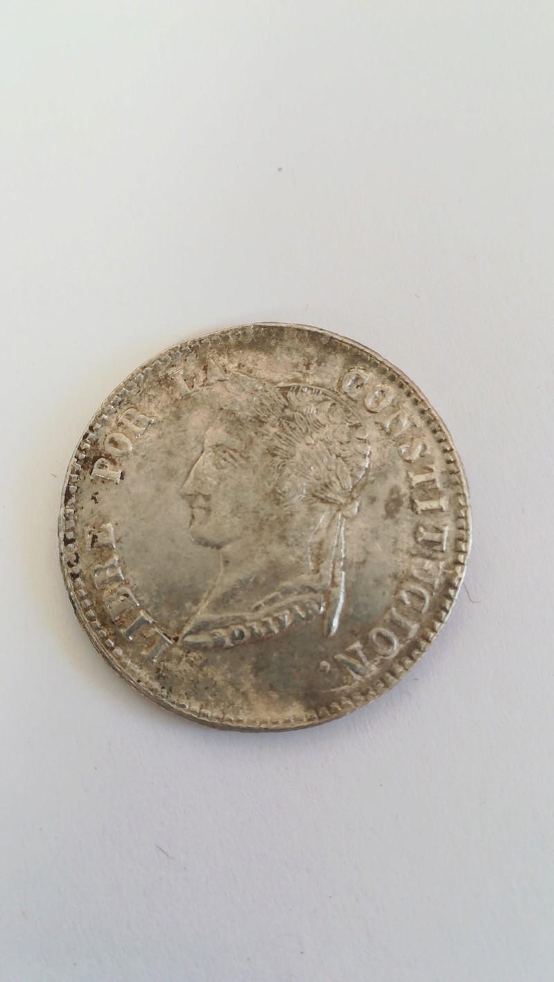 4 soles 1855 M. J. Bolivia 20180311