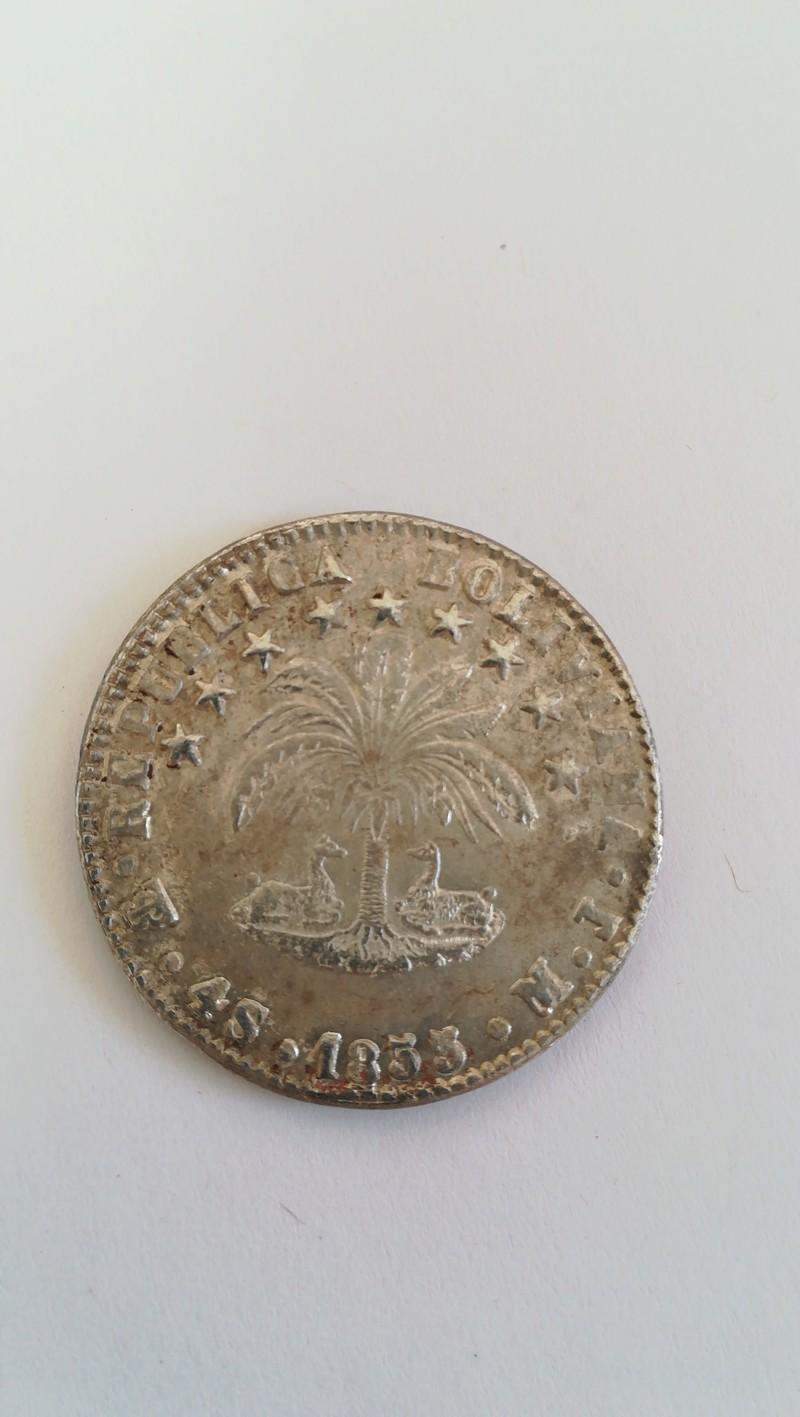 4 soles 1855 M. J. Bolivia 20180312