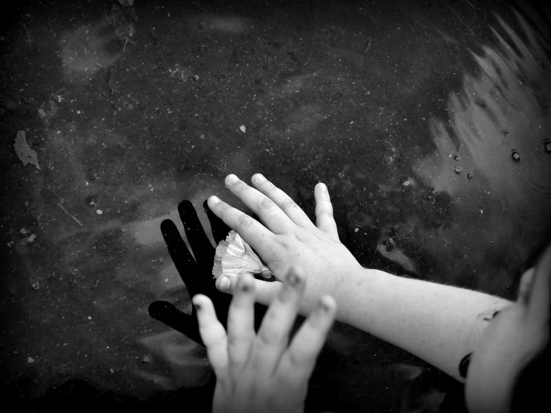 Reflet d'encre noire.  P1160914